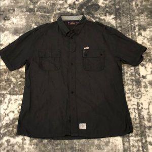 Akoo Short Sleeve Button Down Casual Shirt Sz 2XL